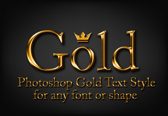 Shiny Gold Text Style