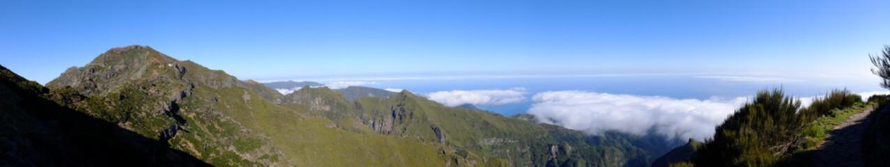 Rando de Pico do Arieiro à Pico Ruivo (Madère)