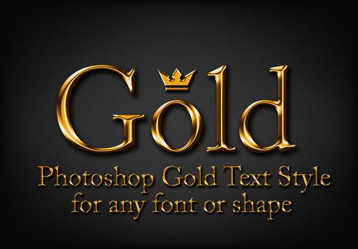 Shiny Gold Text Style