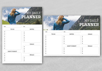 Personal Daily Planner Layout
