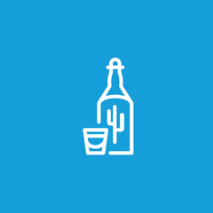 Tequila Shot Line Icon
