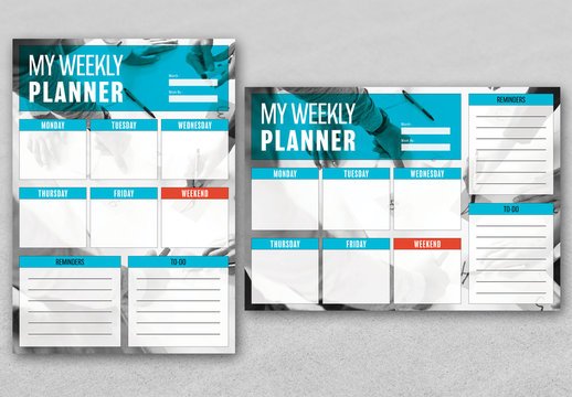 Weekly Business Planner Layout