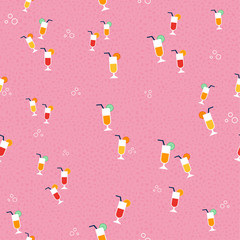 Juice glass background pattern for summer season