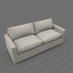 Transitional two seat sofa