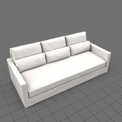 Transitional three seat sofa