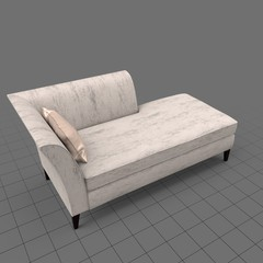Transitional chaise