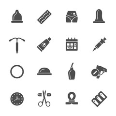 Contraception icons