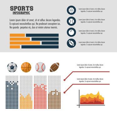 Sports infographic colorful design vector illustration graphic design