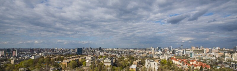 panorama of Kiev in the spring