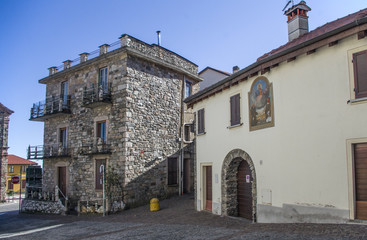renowned holiday resort in the Piedmont mountains. Gignese, Italy