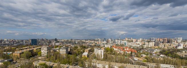 panorama of Kiev in the spring