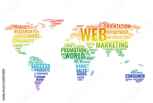 Web marketing word cloud business concept typography design text web marketing word cloud business concept typography design text block composition from words for gumiabroncs Images