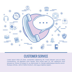 Customer service infographic vector illustration graphic design