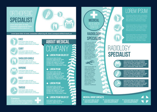 Vector brochure for orthopedics health center