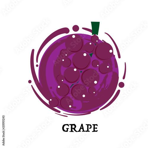 Fruit Grape Graphic Element Design Key Visual Icon Symbol