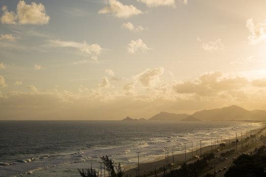 Rio de Janeiro Brazil - Sunset at Barra da Tijuca Beach