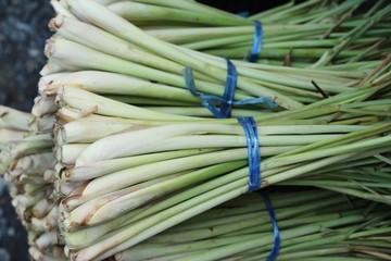 Fresh lemon grass in the market