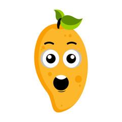Surprised peach emoticon