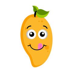 Happy peach emoticon