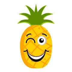 Happy pineapple emoticon