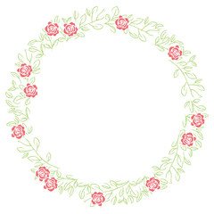Leases, ornaments, decorative rulings, natural decorations drawn with roses and grass   vector data
