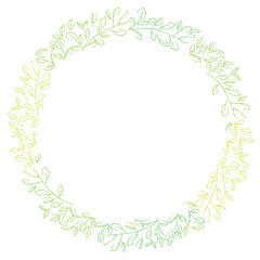 Leashes drawn with grass, ornaments, decorative rulings, natural decorations | vector data