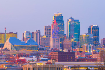 Fototapete - View of Kansas City skyline in Missouri