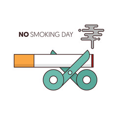 No smoking and world no tobacco day poster template background,