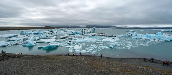Poster Glaciers Jokulsarlon glacier lagoon, Iceland