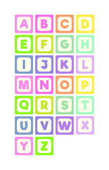 Pastel ABC Alphabet Blocks
