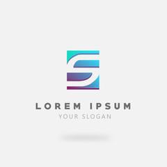 Modern Letter S Logo Concept