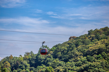Travel ,Hat Yai Cable car at Hat Yai park, Songkhla province, Thailan