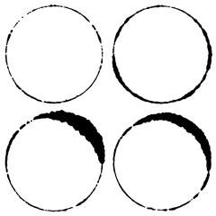 細い円 はんこ風 居酒屋 和風ロゴ用