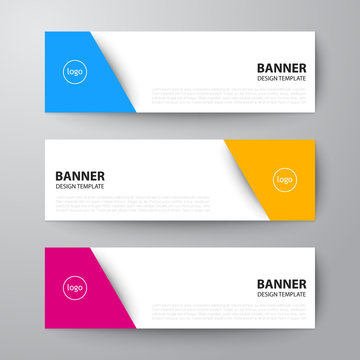 banners web design template abstract vector background