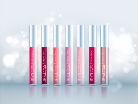 Cosmetic product glosses make up