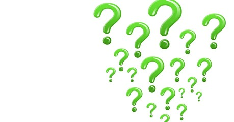 green shiny question marks