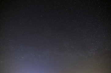 Night sky with a bright star of the Milky Way. View of the starry space