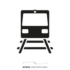 subway train glyph icon