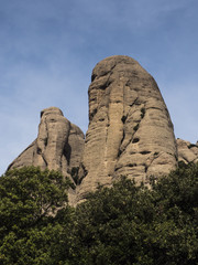 Group of rocks of the mountain of Montserrat