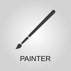 Painter icon. Painter symbol. Flat design. Stock - Vector illustration