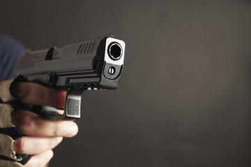 directional pistol close up