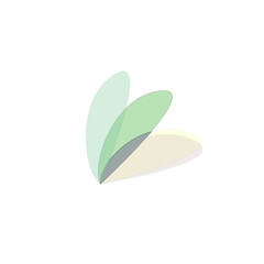 butterfly leaf icon vector
