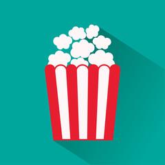 Popcorn icon. Vector illustration