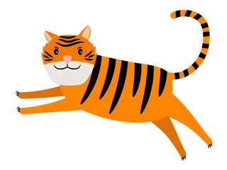 Tiger cartoon icon