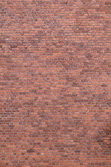 Big full frame background of detailed old red brick wall with copy space