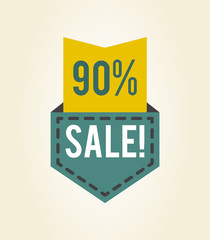 90 off Sale Clearance Icon Vector Illustration