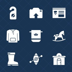 Premium set with fill icons. Such as bathroom, photo, label, leather, boat, service, interface, cute, footwear, travel, real, upload, room, clothing, camera, menu, style, jacket, building, cotton, toy