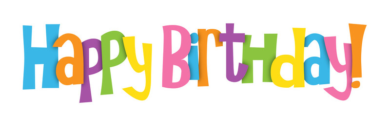 """HAPPY BIRTHDAY"" Vector Letters Banner"
