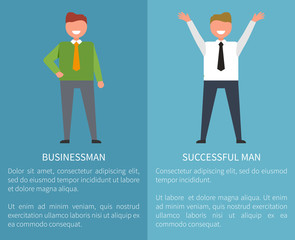 Businessman and Successful Man Posters with Text ac8fb40e51dc