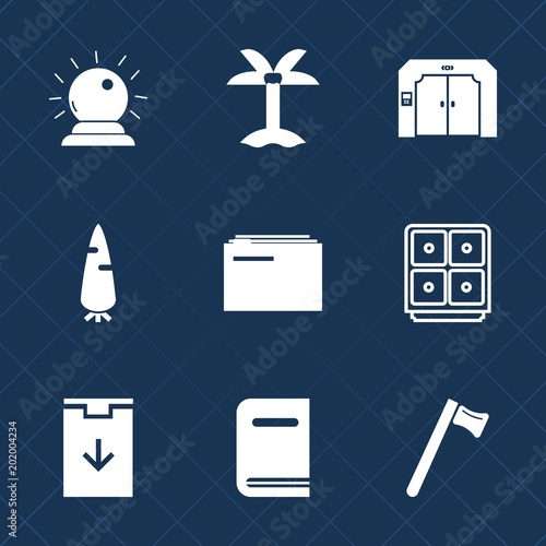 Premium Set With Fill Icons Such As Building Orange Download